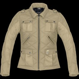 (Alpinestars Stella Uptown Jacket, Creme, Gender: Womens, Size: Md, Apparel Material: Leather 33186929M)