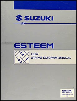 1998 suzuki esteem wiring diagram manual original suzuki amazon rh amazon com 2000 Suzuki Esteem 1995 Suzuki Esteem