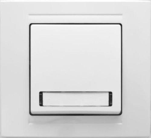 Wechselschalter mit blauer Beleuchtung Steckverbindung Schalter Taster reinweiß