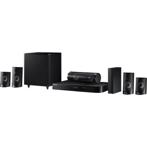 Samsung 5.1-Channel 1000W Bluetooth 3D Smart Blu-ray Home Theater System Plus 6Ft Kubicle High Speed HDMI Cable by Samsung