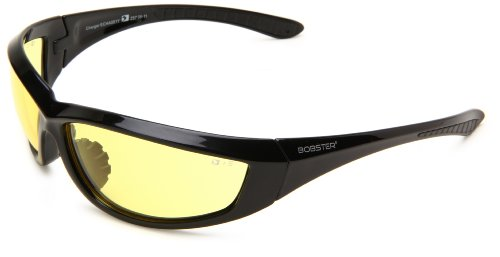 Bobster Charger Sunglasses, Black Frame/Yellow Anti-fog Lens