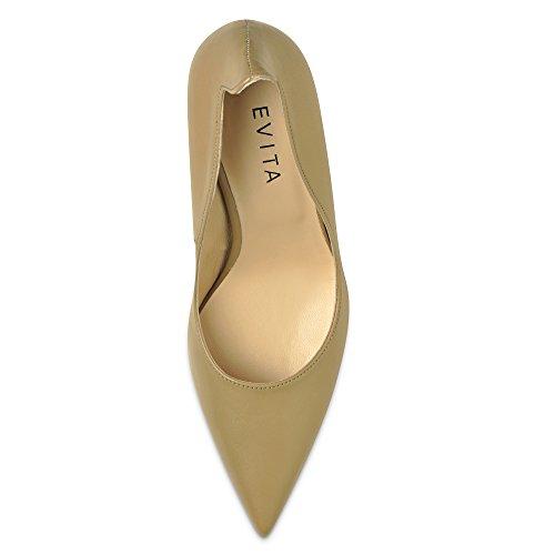 Rosa Donna cipria Col Scarpe Evita Shoes Tacco pw7qP7R6