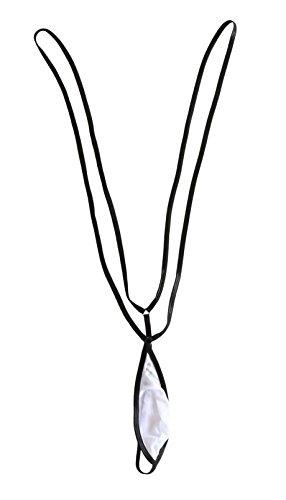 Esquki Mens Sexy Sheer Micro G String Thong (3 Colors) (G-string Sheer)