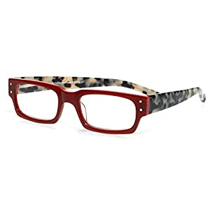 eyebobs Peckerhead, Red and Black/White Tortoise Reading Glasses - SUPERIOR QUALITY- because your eyes deserve the good stuff