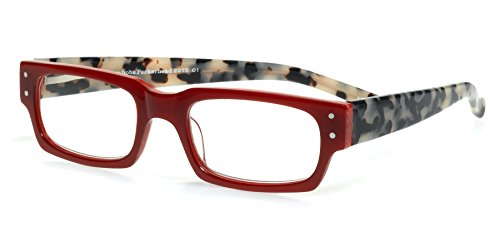 eyebobs Peckerhead, Red and Black/White Tortoise Reading Glasses - SUPERIOR QUALITY- The best $79 you will ever spend