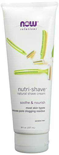 Hydrating Shaving Cream (NOW Foods Natural Shave Cream, 8 Ounce)