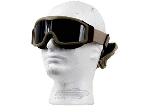 - Lancer Tactical AERO 3mm Thick Dual Pane Lens Eye Protection Safety Goggle System ANSI Z87 1 Rated Industry Standard Panel Ventilated w/Anti-Scratch Shield Fully Adjustable (Tan / 3 Lens)