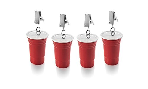 Outset 76221 Red Cup Tablecloth Weights