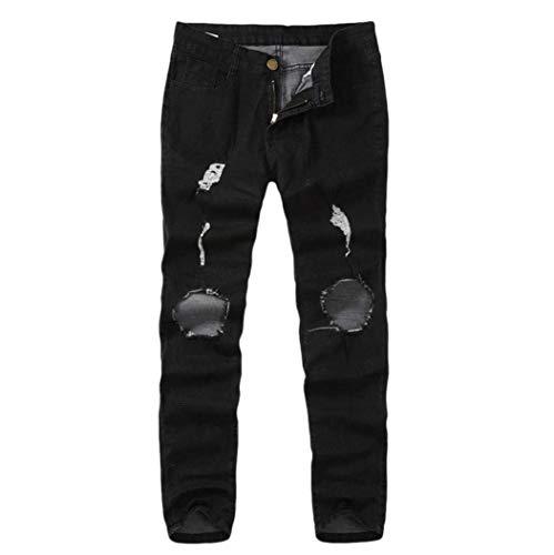 Attillata Strappata Da Vestibilità Qk Nero lannister Strappati Jeans Ragazzo Con Skinny Stretch Pantalone Uomo 6xH6RwqP