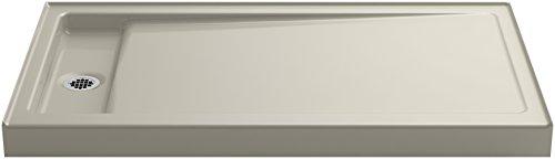KOHLER K-9177-G9 Bellwether 60-Inch x 34-Inch Single-Threshold Shower Base with Left Center Drain, Sandbar