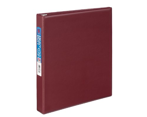 Avery Heavy-Duty Binder with 1 -Inch One Touch EZD Ring, Maroon, 1 Binder (79369)