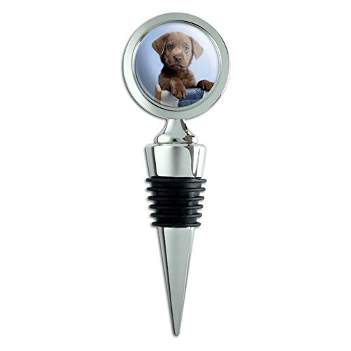 Lounge Bottle (Chocolate Lab Labrador Deckchair Lounge Chair Wine Bottle Stopper)