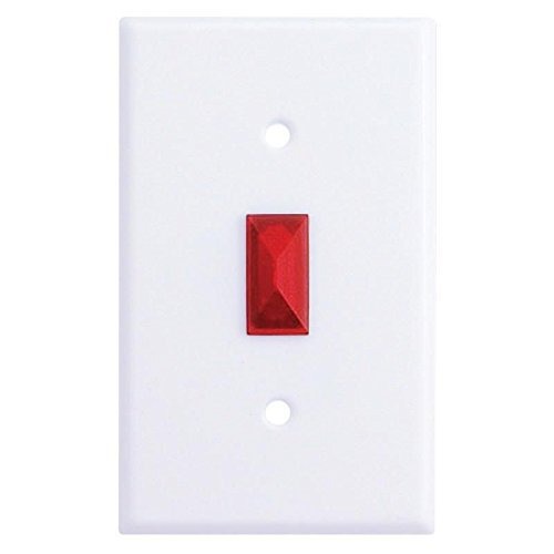 Mulberry 40548 Rectangular Toggle Opening Jewel 0.925 Inch x 0.406 Inch Red