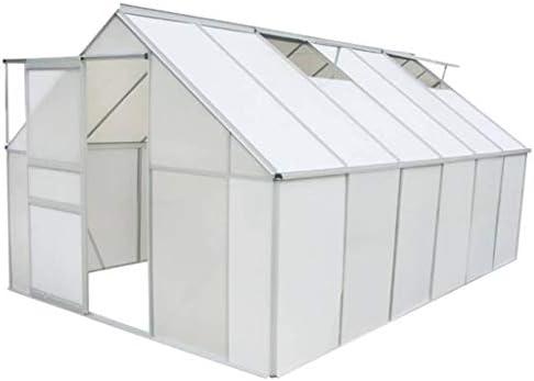 Zora Walter Invernadero de policarbonato y Aluminio 490x250x195 cm Resistente a los Rayos UV con una Gran Puerta corredera: Amazon.es: Jardín
