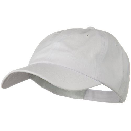 Otto Caps Solid Brushed Cotton Twill Low Profile Cap - White ()