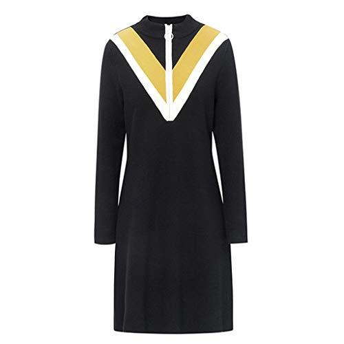 M Longue Rétro Size color Femme Black Mi Jupe Manches Vêtements À Longues Rayures Carreaux Femme Black Carreaux Pour Robes femme longue aSn0qHv