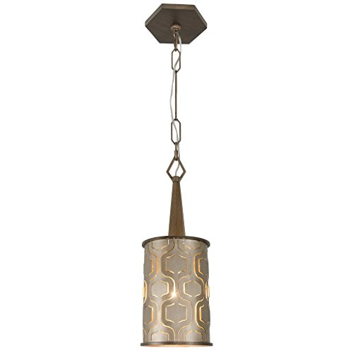 Varaluz 279M01CM Iconic 1-Light Mini Pendant - Champagne Mist Finish