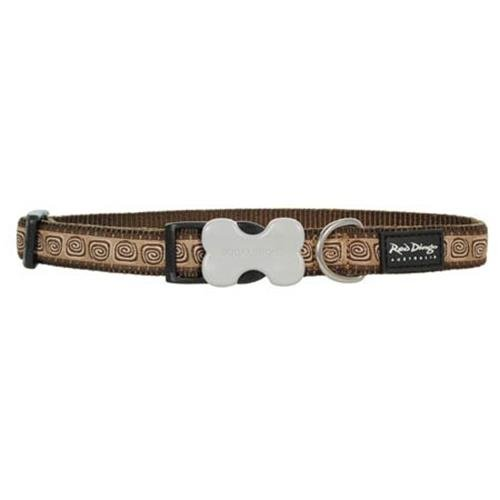 Red Dingo Hypno Brown Large Dog Collar