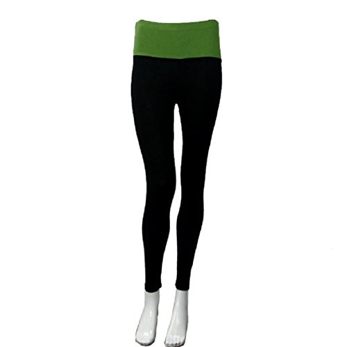Confort Femme Tight 1pièce Amison Capri Vêtements Sports Pantalon Yoga Vert Fitness Modal wSEx1q