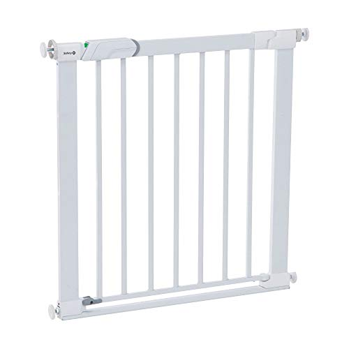 Safety 1st SecureTech Flat Step Practical Safety Metal Gate with Thin Step Over Bar, Ideal for Kids and Pets, 73 to 80…