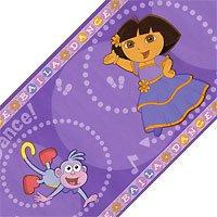(Brewster 147B00982 Nickelodeon Dora Dancing Wall Border, Purple)