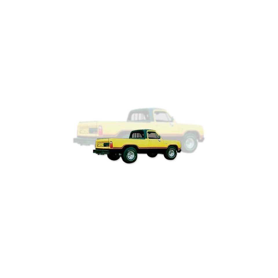 1977 1978 Dodge Macho Power Wagon Truck Decals & Stripes Kit   ORANGE / BLACK
