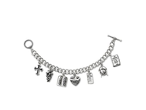 - Sentimental Expressions Sterling Silver Answered Prayer 7.5 Inch Locket Charm Bracelet