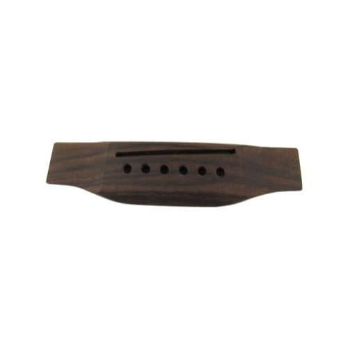 Musiclily 6 String Rosewood Saddle Thru Guitar Bridge For Martin Style Acoustic Guitar (Martin Bridge)