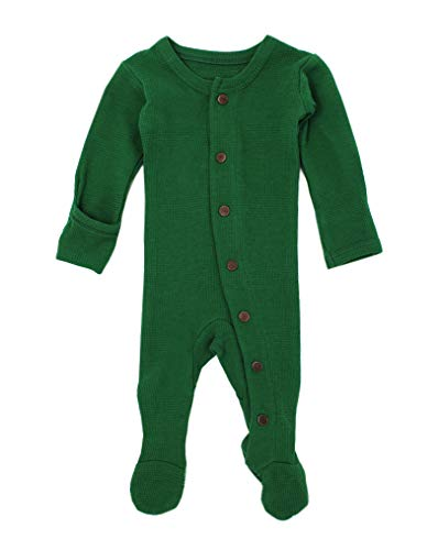 L'ovedbaby Unisex-Baby Organic Cotton Footed Overall (12-18 Months, Thermal ()