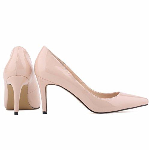 Slip 42 Lavender Nightclub Solid Shoes Thin Heels Star Toe Pointed Size on Heels 35 Pumps Shoes High Women's qaWPFwU