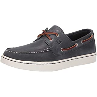 Sperry Mens Sperry Cup 2-Eye Boat Shoe, Navy, 7