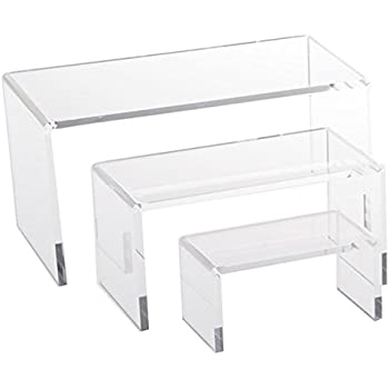 Jusalpha® Clear Acrylic Riser Set Small Showcase for Jewelry