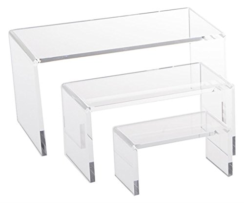 Jusalpha  Clear Acrylic Riser Set Small Showcase For Jewelry