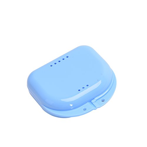 Orthodontic Retainer Case with Random Color, Denture Box Mouthguard Container with Holes for Office/Travel/Household
