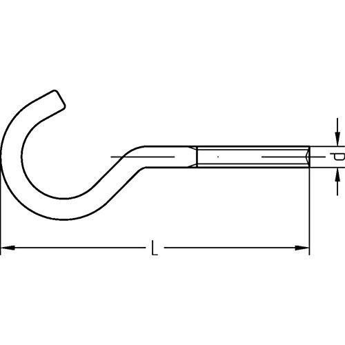 11E mit metrischem Gewinde galv Schraubhaken gebogen Art verzinkt M 8 x 80-50 St/ück