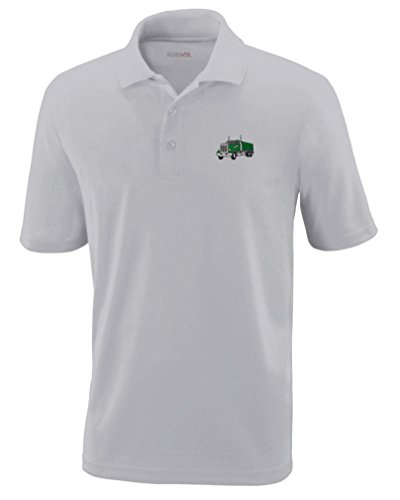 - Gravel Truck Style 1 Embroidery Design Polyester Performance Polo Shirt Platinum 5X-Large
