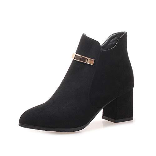 Americani Americani Americani Martin Gli della ed Women del Metallo Boots Boots Boots del Europei Fibbia Spessi del delle B Women's Comodi Nuovi Stivali Code Size con 2018 Stivali Donne Pointed qP6xnEtHZ