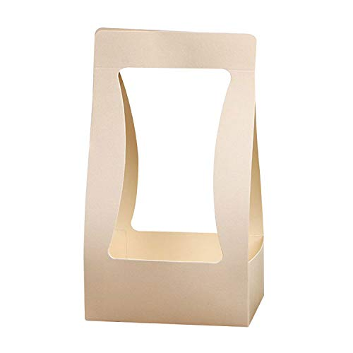 Portable Paper Foldable Flower Box for Living Room Wedding for Gift Box Wrapping Gift Case,Beige -