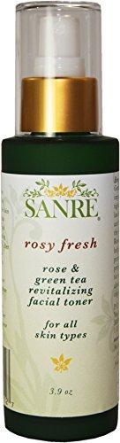 Revitalizing Facial Toner - SanRe Organic Skinfood - Rosy Fresh - Organic Rose and Green Tea Revitalizing Facial Toner For All Skin Types