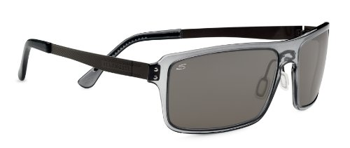 Serengeti Cosmopolitan Duccio Sunglasses, Polar PhD CPG, Crystal Dark Gray (Lens Gray Crystal Polar)