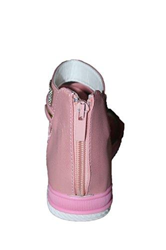 eva mode-spartiates sandales-rose-fille