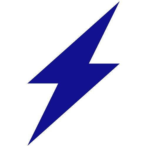 Lightning Bolt Decal Sticker (blue), - PEEL and STICK Graphic Sticker - Decorative Bumper Window Laptop Notebook Sticker - Lightning Window Graphic