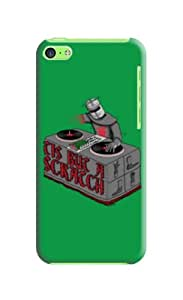The Fine Craft With Exclusive&Exquisite Design Scracch Green Hard Case For Iphone 5c