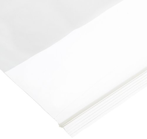 Aviditi PB3960 White Block Reclosable Polyethylene Bag, 8'' Length x 5'' Width x 2 mil Thick, Clear (Case of 1000) by Aviditi