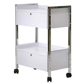 Lockable Two Drawer Cart Trolly by Top Spa