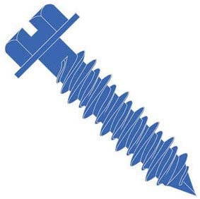 1//4 x 2-1//4 , Blue SHORPIOEN Hex Flanged Concrete Screw Pack of 50