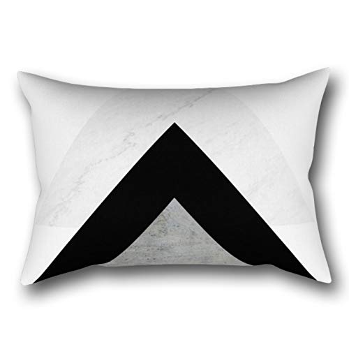 LVTIAN Arrows Monochrome Collage Rectangular Pillowcase Protector Cover 20x30 Inch
