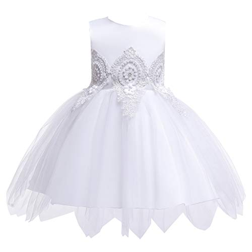 RAINED-Baby Girls Lace Flower Dress Wedding Birthday Special Occasion Dress Evening Gowns Bow Tie Princess Tutu Dresses - Evening Bow