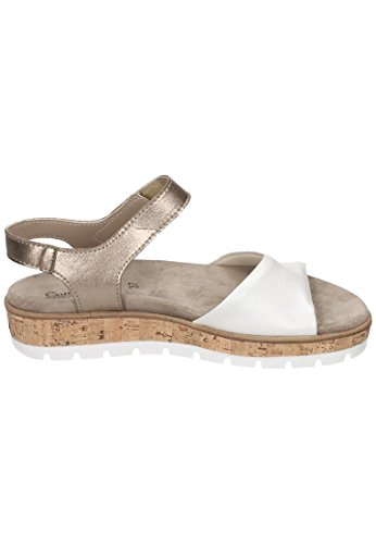 zwei mehrfarbig womens gold weiß 710885 Comfortabel Sandale 0 BqUx78nE