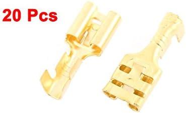 uxcell 20 Pcs 6.3mm Female Cable Crimp Terminal Connector